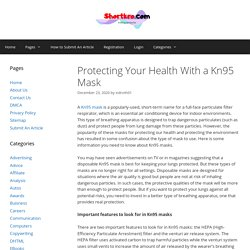 Protecting Your Health With a Kn95 Mask