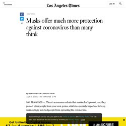 Masks offer much more protection against coronavirus than many think