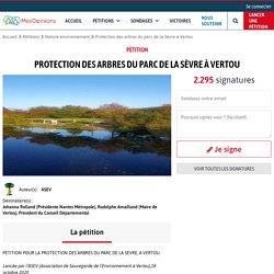 Protection des arbres du parc de la Sèvre à Vertou