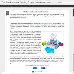 Car Scratch Paint Protection