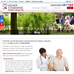 COVID-19 Protection Checklist for Older Adults