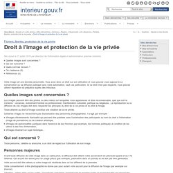 Droit à l'image et protection de la vie privée / Fichiers, libertés, protection de la vie privée / Vie citoyenne / Papiers - Citoyenneté / Archives