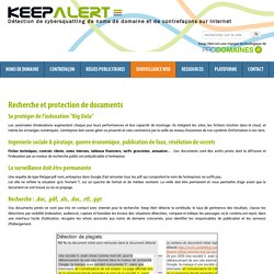 Recherche et protection de documents confidentiels