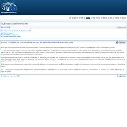 PARLEMENT EUROPEEN - Réponse à question E-004254-16 Protection des consommateurs vis-à-vis des publicités relatives à la perte de poids