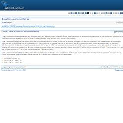 QUESTION ÉCRITE P-1107/01 posée par Struan Stevenson (PPE-DE) à la Commission (23 mars 2001) Objet: Santé et protection des cons
