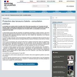 Brève - Protection des lanceurs dalerte - consultation publique