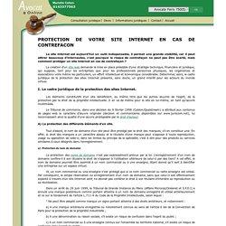 PROTECTION DE VOTRE SITE INTERNET EN CAS DE CONTREFACON