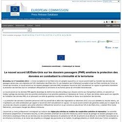Le nouvel accord UE/États-Unis sur les dossiers passagers (PNR) améliore la protection des données en combattant la criminalité et le terrorisme