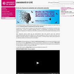 Droits de l'homme et protection de la diversité culturelle - Université et Cité