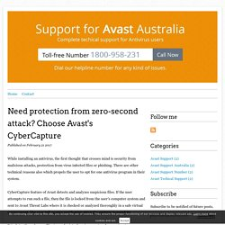 Need protection from zero-second attack? Choose Avast's CyberCapture - Avast Support Australia Number 1800-958-231