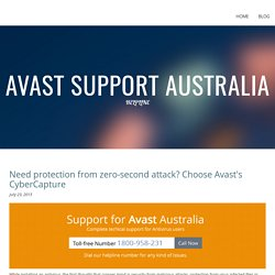 Need protection from zero-second attack? Choose Avast's CyberCapture