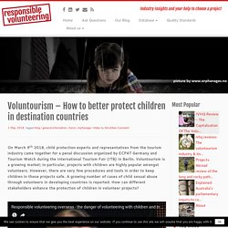 Child protection - How to better protect children in destination countries