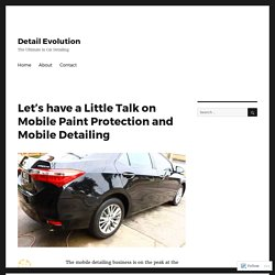 Let's have a Little Talk on Mobile Paint Protection and Mobile Detailing – Detail Evolution