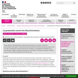 Protection contre les discriminations : ce que dit le code du travail