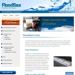 Water Absorbent Pad – FloodSax Sandless Sandbags North America
