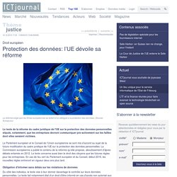 L'UE dévoile sa réforme de la protection des données personnelles
