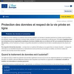 Protection des données et respect de la vie privée en ligne - L'Europe est à vous