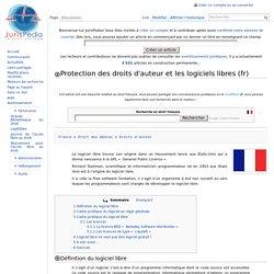 Protection des droits d'auteur et les logiciels libres