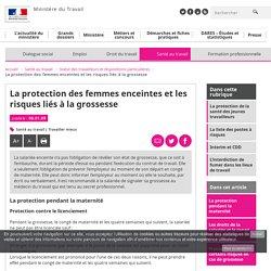 La protection des femmes enceintes et les risques liés à la grossesse