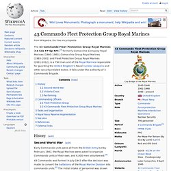 43 Commando Fleet Protection Group Royal Marines