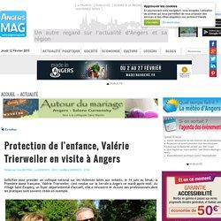 Protection de l'enfance, Valérie Trierweiler en visite à Angers