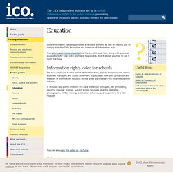 (ICO) - Information for Education