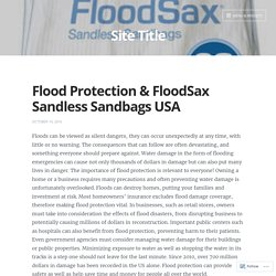 Flood Protection & FloodSax Sandless Sandbags USA – Site Title