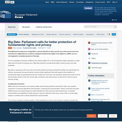 Big Data: EP calls for better protection of fundamental rights and privacy