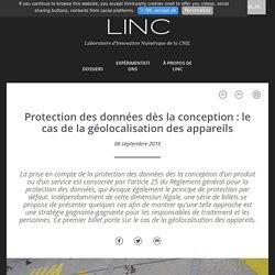 Protection des données dès la conception : le cas de la géolocalisation des appareils