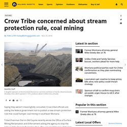 2016 - Crow Tribe Concerns