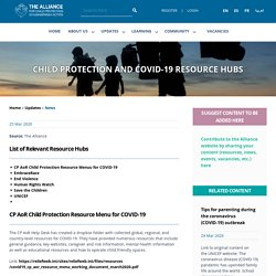 Child Protection and COVID-19 Resource Hubs