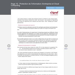 Page 15 - Protection de l'information d'entreprise et Cloud Computing