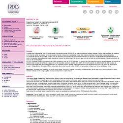 Rapport 556 : Enquête sur la santé et la protection sociale 2012. IRDES. Institut de Recherche en Economie de la santé.