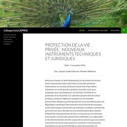 Protection de la vie privée : Nouveaux instruments techniques et juridiques