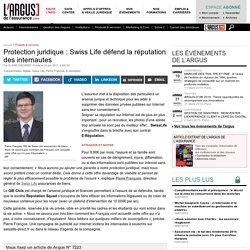 Protection juridique : Swiss Life défend la réputation des internautes
