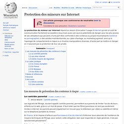 Protection des mineurs sur Internet