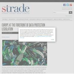 Strade - Europe at the forefront of data protection legislation