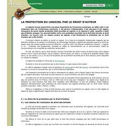 LA PROTECTION DU LOGICIEL PAR LE DROIT D'AUTEUR