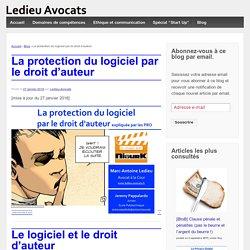 La protection du logiciel par le droit d'auteur - Ledieu-Avocats