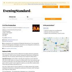 S K Fire Protection, S K Fire Protection Kemp House, 152-160 City Road, London , Birmingham, Birmingham, EC1V2NX