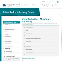 Child Protection - Mandatory Reporting