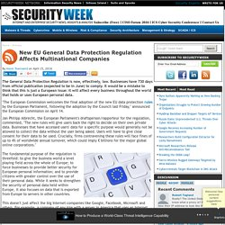 New EU General Data Protection Regulation Affects Multinational Companies