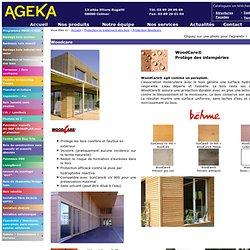 Page de présentation des produits Woodcare