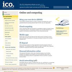 Personal information online - code of practice
