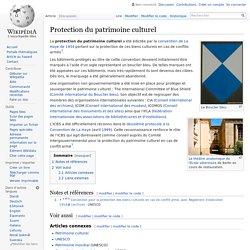 Protection du patrimoine culturel