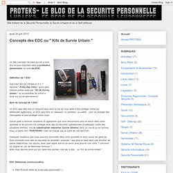 """Concepts des EDC ou """" Kits de Survie Urbain """""""