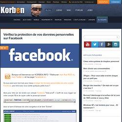 Vérifiez la protection de vos données personnelles sur Facebook