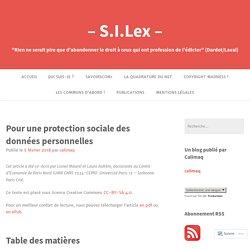 Pour une protection sociale des données personnelles