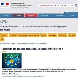 Protection des données personnelles : quels sont vos droits