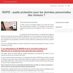 RGPD : quelle protection pour les données personnelles des mineurs ?